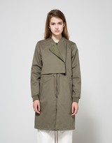 Just Female Parka Bomber in Litchen Green
