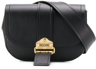 Moschino logo plaque belt bag