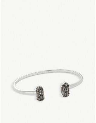 Kendra Scott Edie rhodium plated brass cuff bracelet