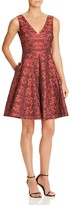 Betsey Johnson Rose Print Jacquard Dress