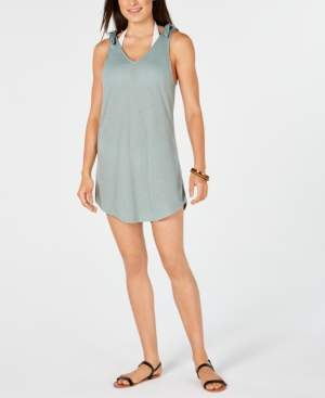 Miken Juniors' Tie-Shoulder V-Neck Cover-Up Dress, Created for Macy's Women's Swimsuit