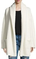 Vince Oversized Open-Front Hooded Cardigan