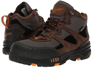 Danner Springfield Non-Metallic Safety Toe WP (Brown/Orange) Men's Shoes