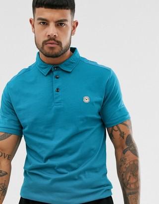 Le Breve slim fit polo shirt-Blue