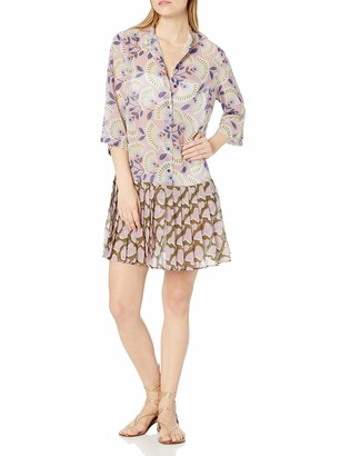 Gottex Women's Pleated Shirtdress Swimsuit Cover Up