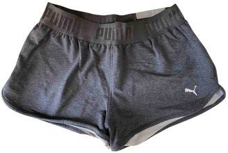 Puma Grey Cotton Shorts for Women