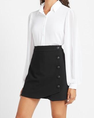 Express High Waisted Soft & Sleek Button Side Pencil Skirt