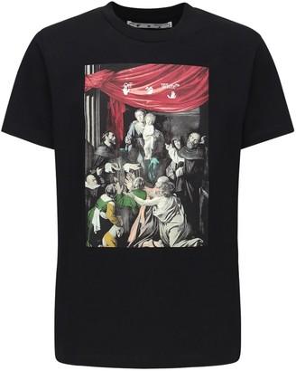 Off-White Caravaggio Print Slim Jersey T-shirt