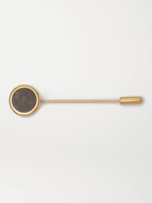Kingsman + Deakin & Francis Gold-Plated Heliotrope Lapel Pin