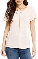 Sanctuary Off Duty Short Sleeve Peplum Tee