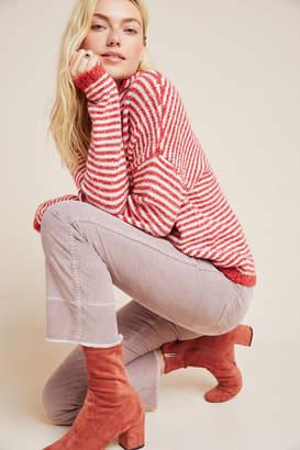 Amo Bella High-Rise Cropped Velvet Flare Jeans