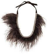 Brunello Cucinelli Ostrich Feather Choker