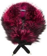 Blumarine fox fur collar