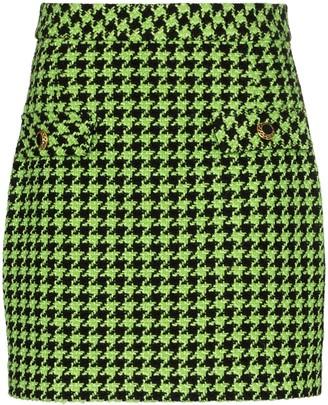Rixo x Christian Lacroix Mariah houndstooth mini skirt