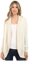 BB Dakota Lewis Heathered French Terry and Crochet Back Cocoon Sweater