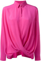 Moschino draped silk shirt - women - Silk - 38