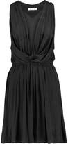 Etoile Isabel Marant Bazin Draped Crepe De Chine Mini Dress