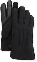 UGG Men's Three-Cord Contrast Sheepskin Gloves