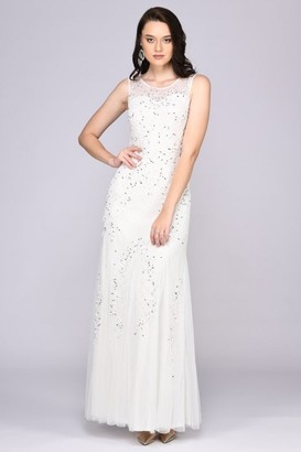 Gatsbylady London Anna Illusion Neckline Wedding Gown in White