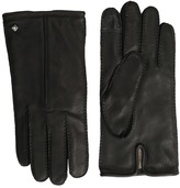 Cole Haan Handsewn Deerskin Leather Gloves with Single Point and Tech