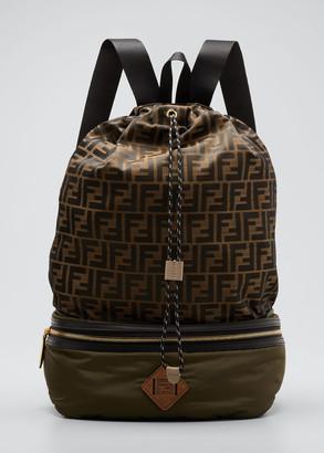 Fendi Men's FF Logo Bucket Backpack
