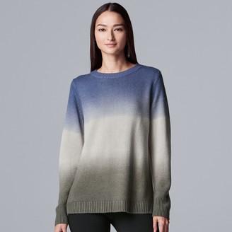 Vera Wang Women's Simply Vera Cozy Dip-Dye Sweater
