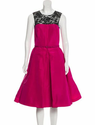 Oscar de la Renta 2016 Silk Dress w/ Tags Fuchsia