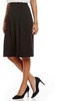 Ellen Tracy Stretch Crepe A-Line Flared Midi Skirt