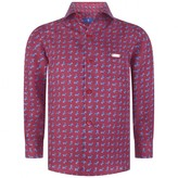 Paul & Joe Boys Burgundy Aeroplane Silk Shirt
