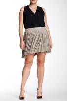 BB Dakota Ardis Faux Suede Fringe Skirt (Plus Size)