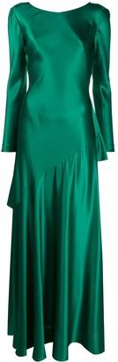 Alberta Ferretti V-Back Flared Gown
