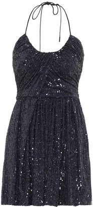 Saint Laurent Sequined minidress