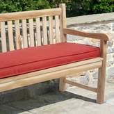 "Mozaic Sunbrella 60"" x 19"" Textured Outdoor Bench Cushion"