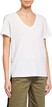 Frame Cuff-Sleeve Cotton T-Shirt
