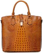 Vicenzo Leather Dione Croc Embossed Leather Tote