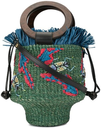 Aranaz Greta fringe bucket bag