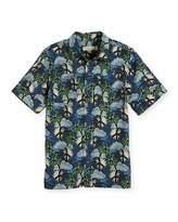 Stella McCartney Rowan Cotton Hawaiian Shirt, Blue, Size 4-10