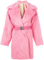 No.21 belted fur coat - women - Polyester/Acetate/Viscose/Alpaca - 38