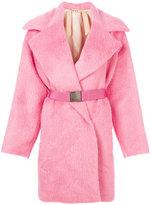 No.21 belted fur coat