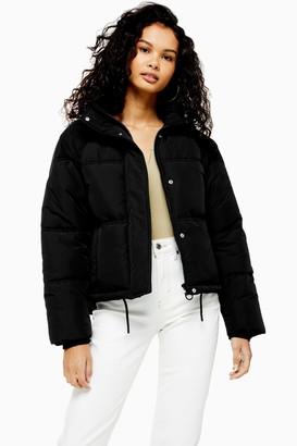 Topshop Womens Classic Black Padded Puffer Jacket - Black