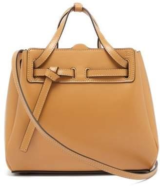 Loewe Lazo Mini Leather Tote Bag - Womens - Beige