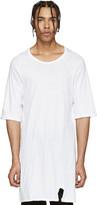 11 By Boris Bidjan Saberi White Knit Mesh T-Shirt