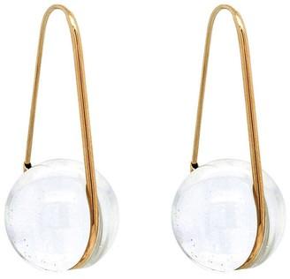 Cyril Studio Orbital Drop Yellow Gold Earrings