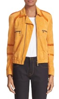 Tomas Maier Suede Bomber Jacket