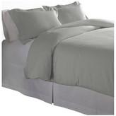Pointehaven 175 GSM Cotton Flannel Duvet Set, Heather Gray, King/Cal K