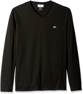 Lacoste Men's Long Sleeve V Neck T-Shirt Shirt