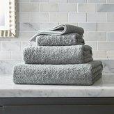 Crate & Barrel Egyptian Cotton Grey Bath Towels