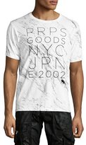 PRPS Explosion Marble Logo T-Shirt, White