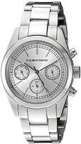 Cabochon Women's 'De Ce Monde' Swiss Quartz Stainless Steel Casual Watch, Color:Silver-Toned (Model: 1107)