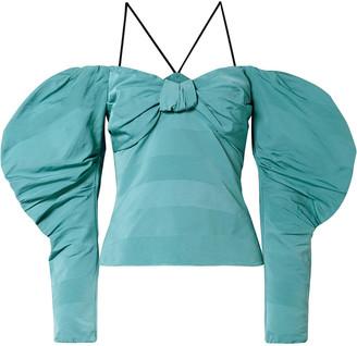 Hellessy Lauren Off-the-shoulder Cotton-blend Faille Top